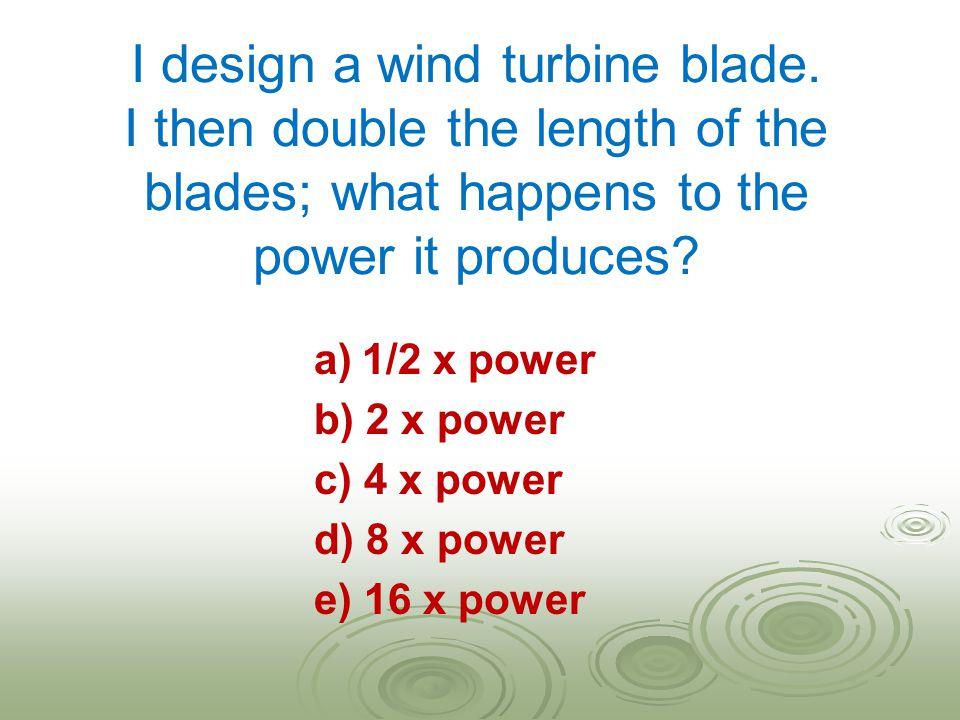 I design a wind turbine blade.
