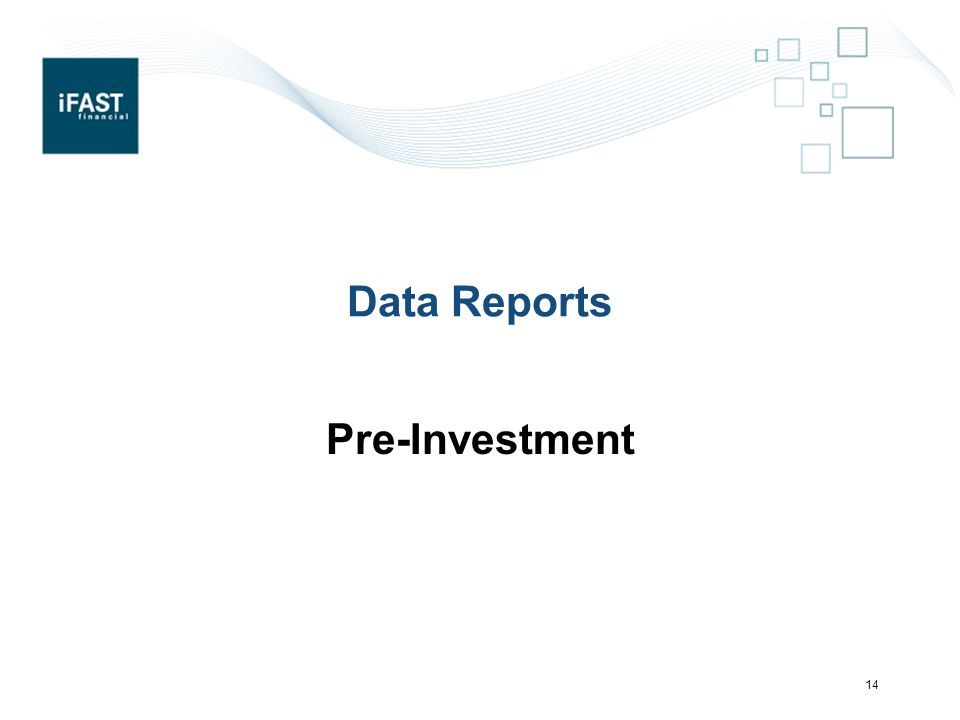 Data Reports Pre-Investment 14