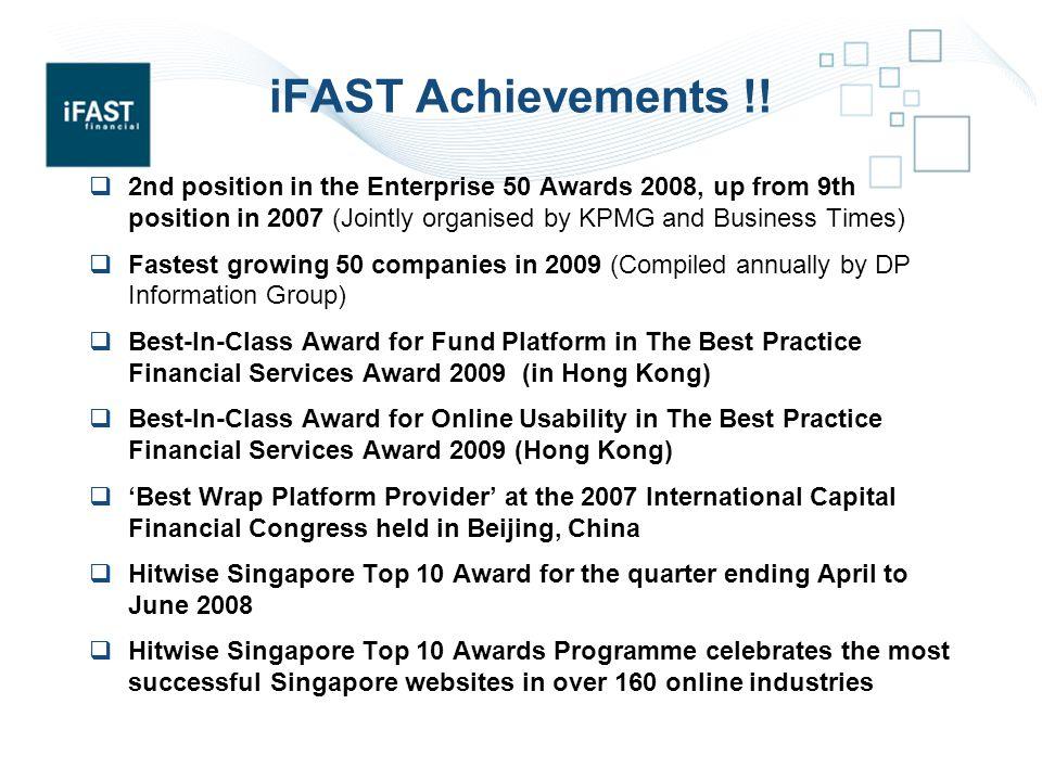 iFAST Achievements !.