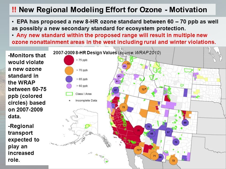 EPA has proposed a new 8-HR ozone standard between 60 – 70 ppb as well as possibly a new secondary standard for ecosystem protection.
