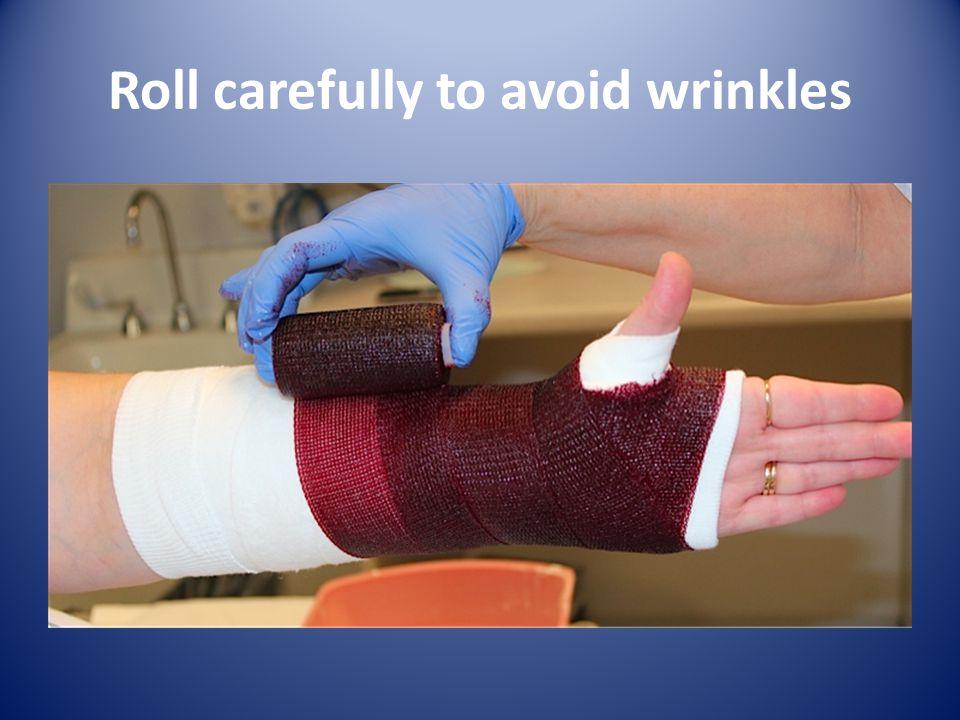 Roll carefully to avoid wrinkles