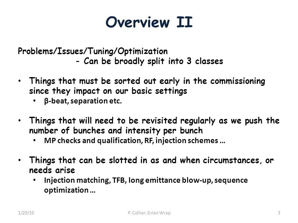 Overview II 1/20/10P.