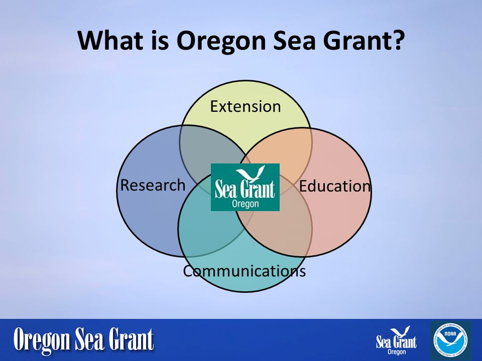 What is Oregon Sea Grant? Extension Education Communications Research
