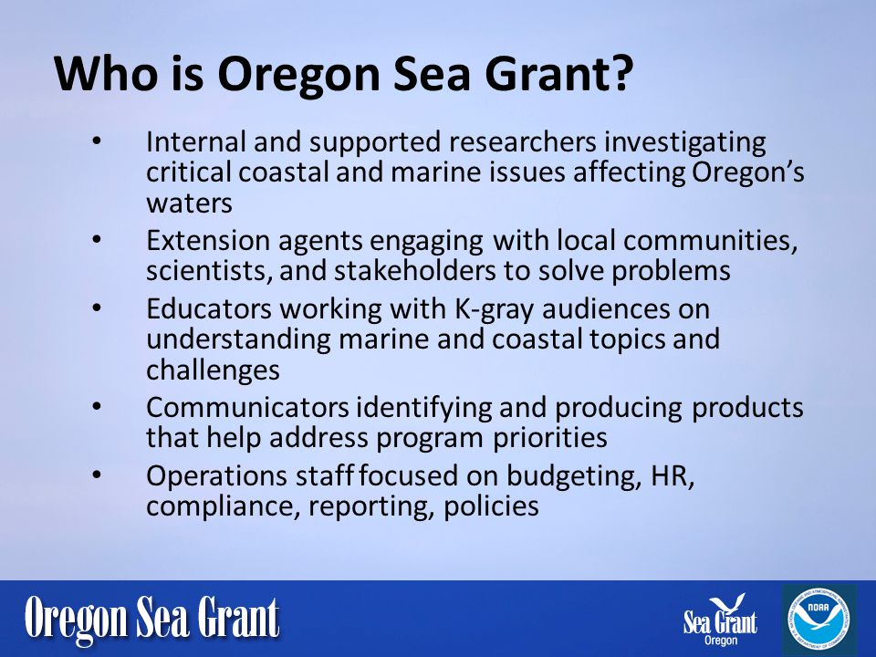 Who is Oregon Sea Grant.