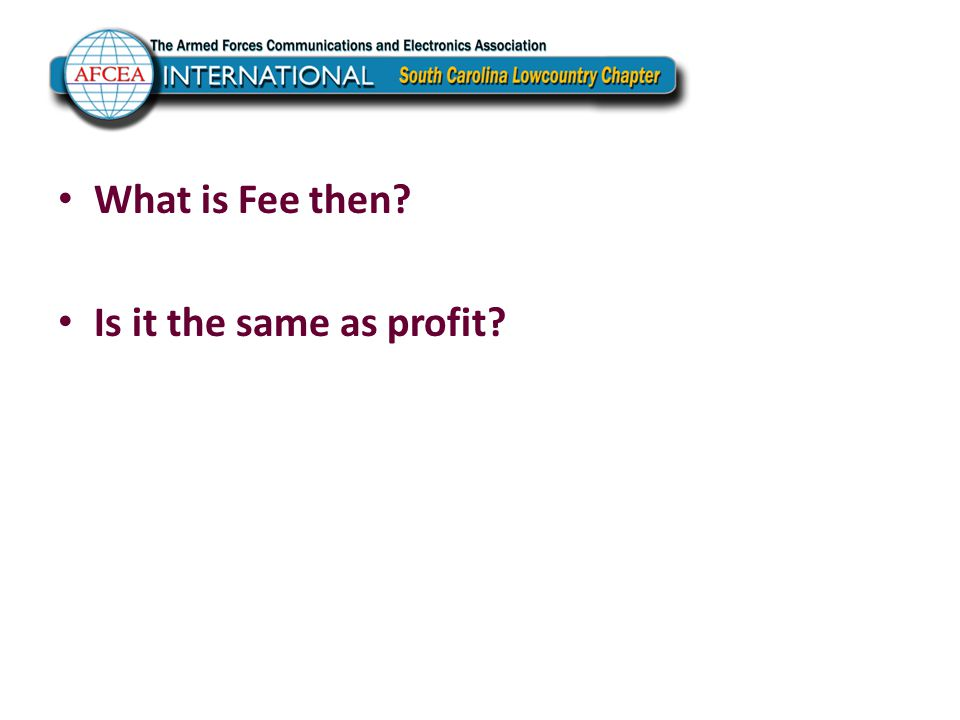 What is Fee then? Is it the same as profit?