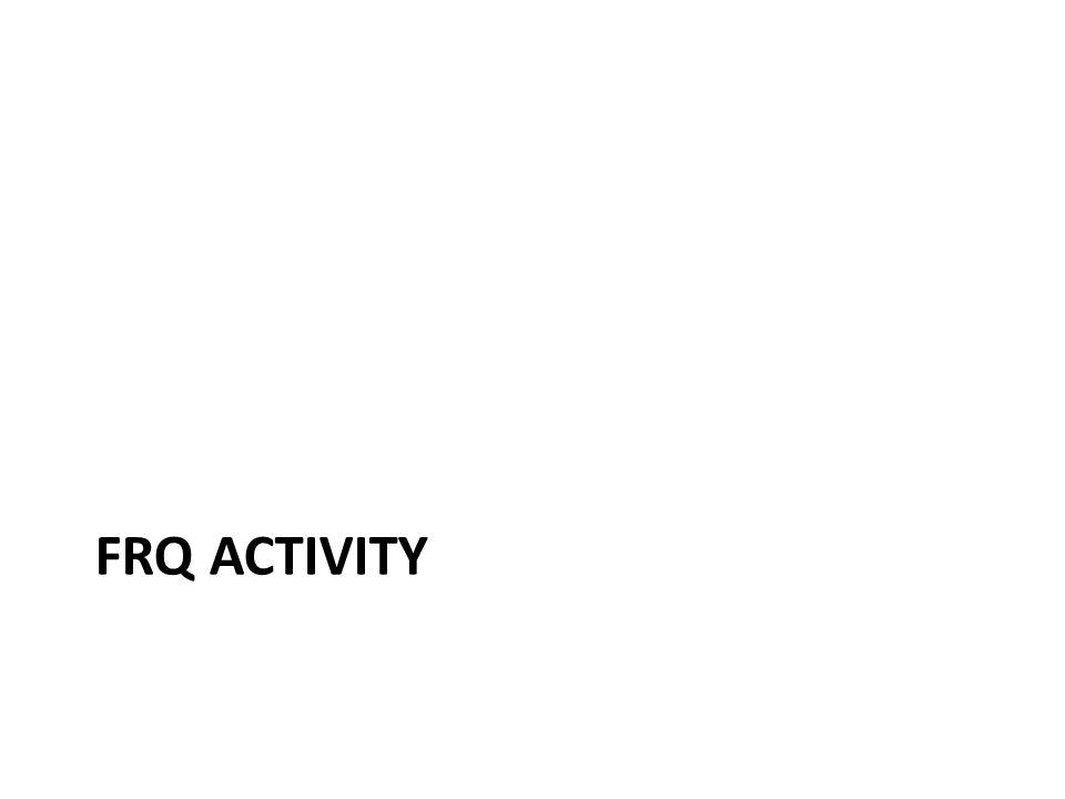 FRQ ACTIVITY