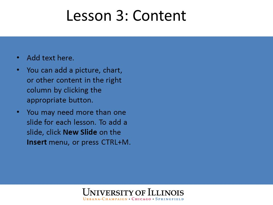 Lesson 3: Content Add text here.