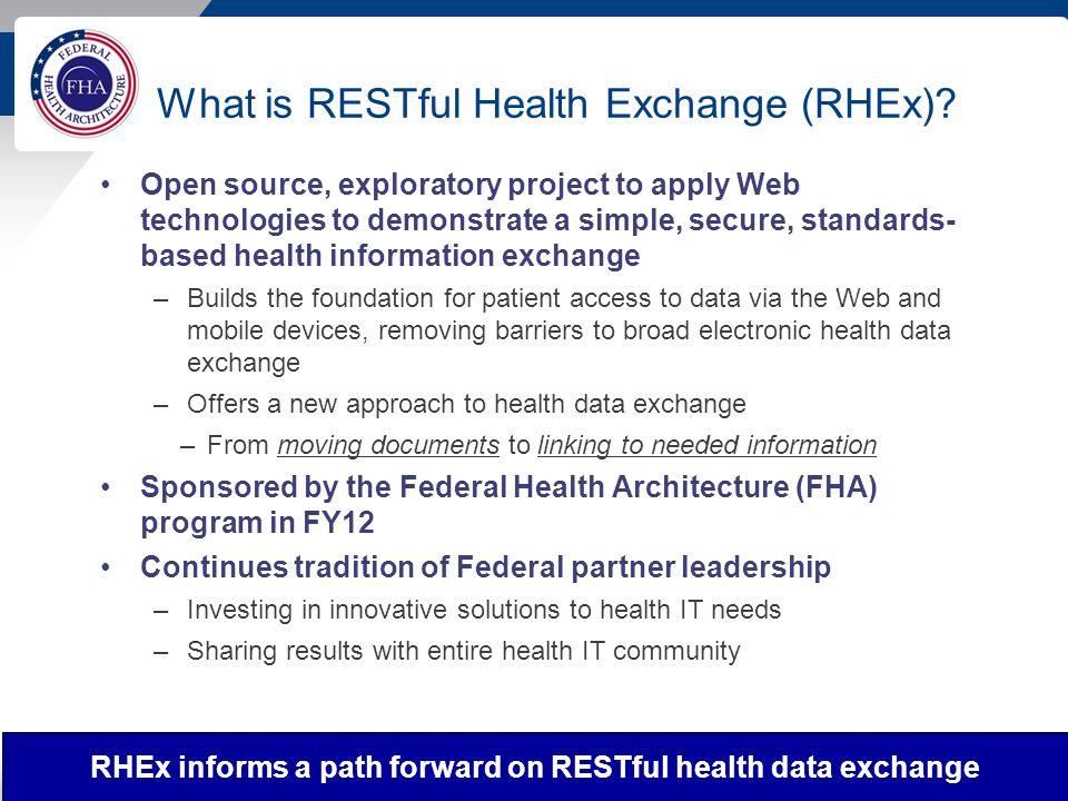 What is RESTful Health Exchange (RHEx).