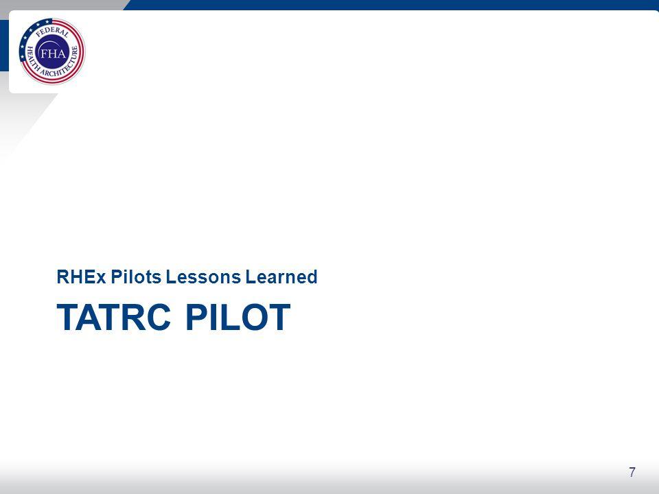 7 TATRC PILOT RHEx Pilots Lessons Learned