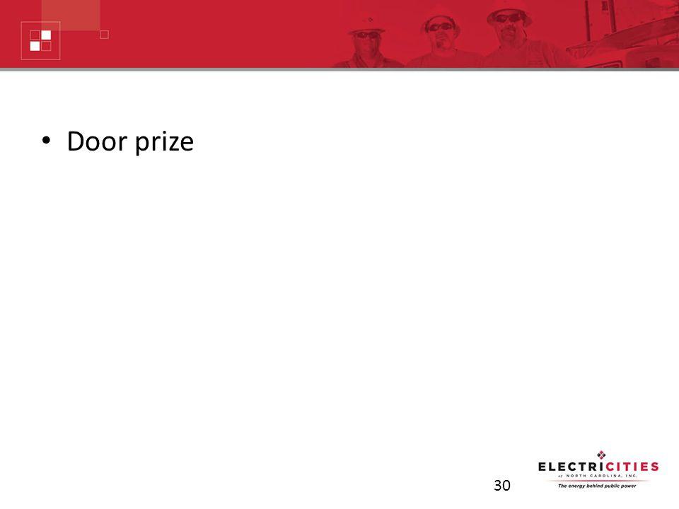 Door prize 30