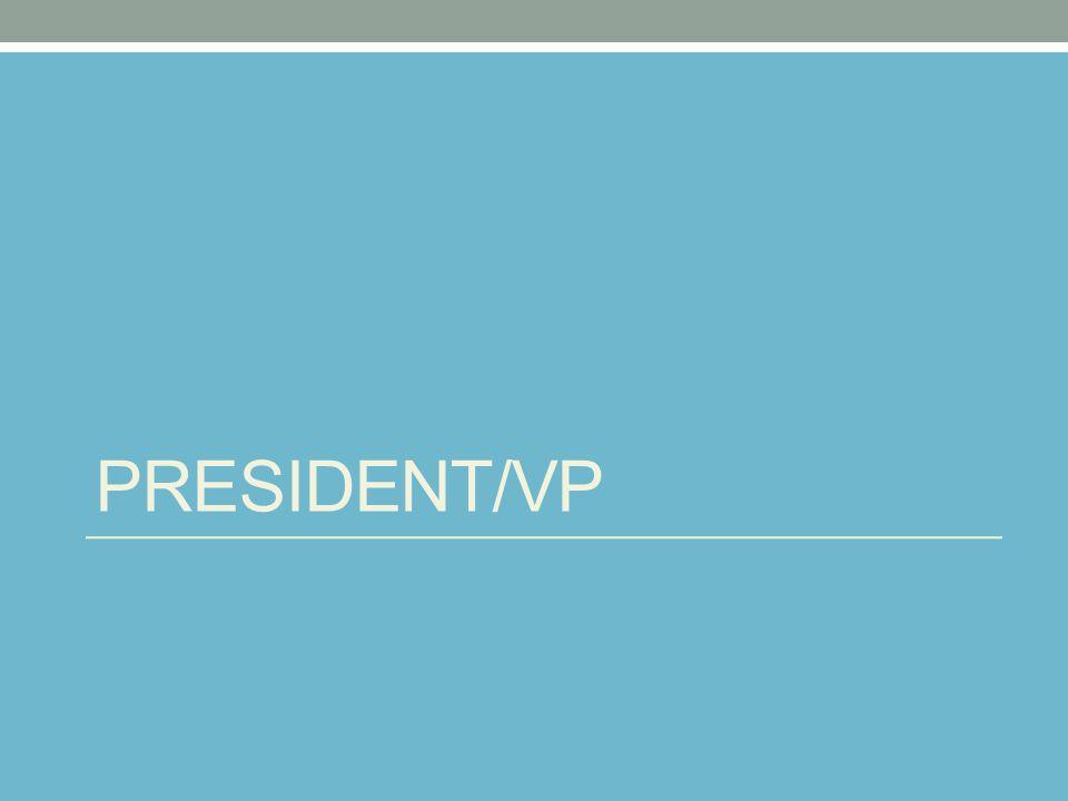 PRESIDENT/VP