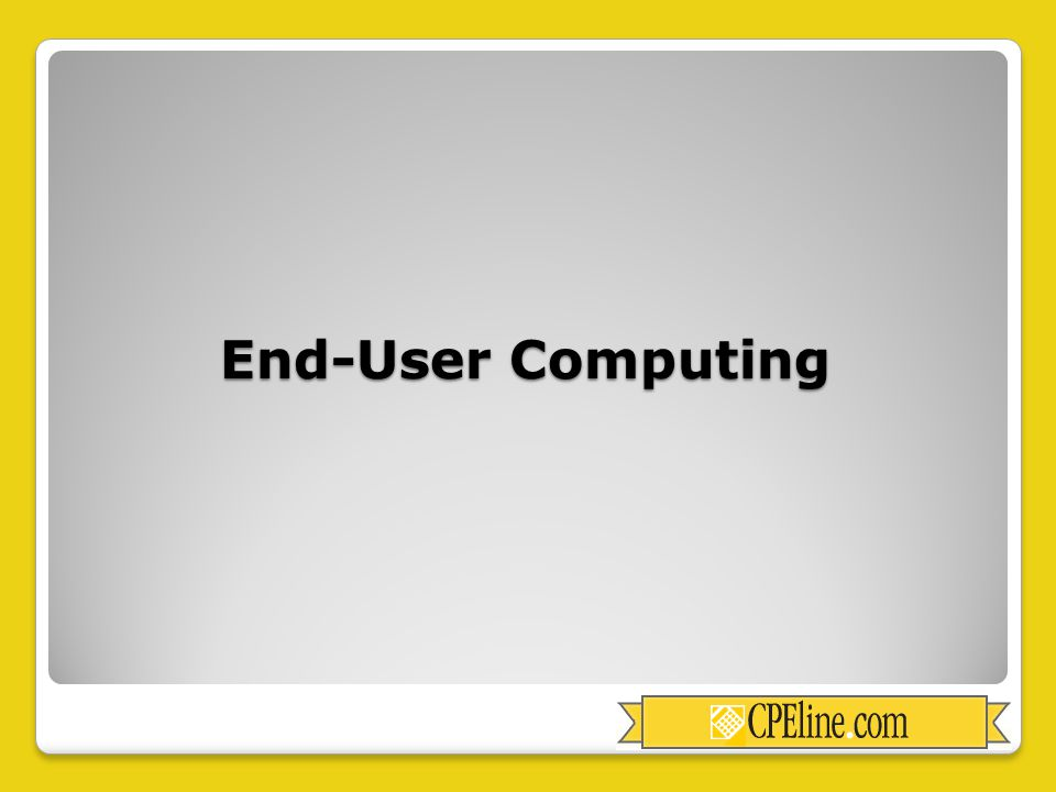 End-User Computing