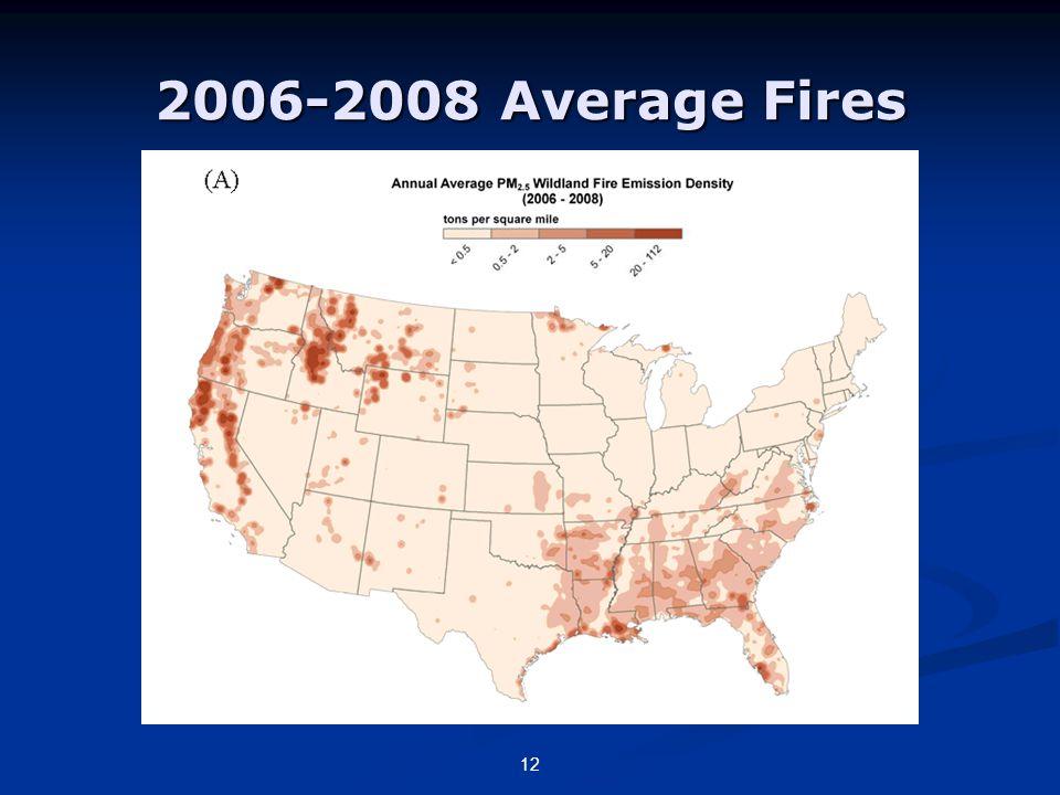 2006-2008 Average Fires 12
