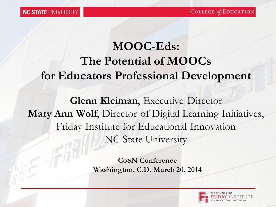 Why MOOCs for Educators.