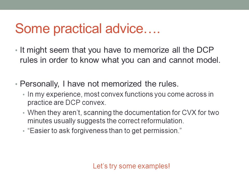 Some practical advice…. It might seem that you have to memorize all the DCP rules in order to know what you can and cannot model. Personally, I have n
