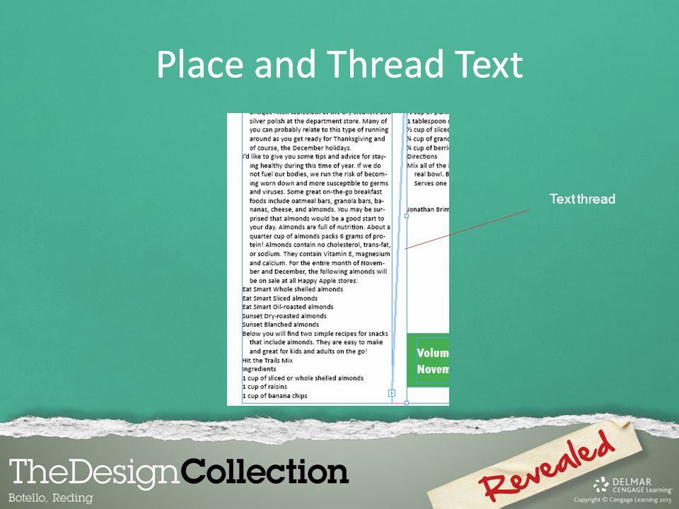 Text thread Place and Thread Text