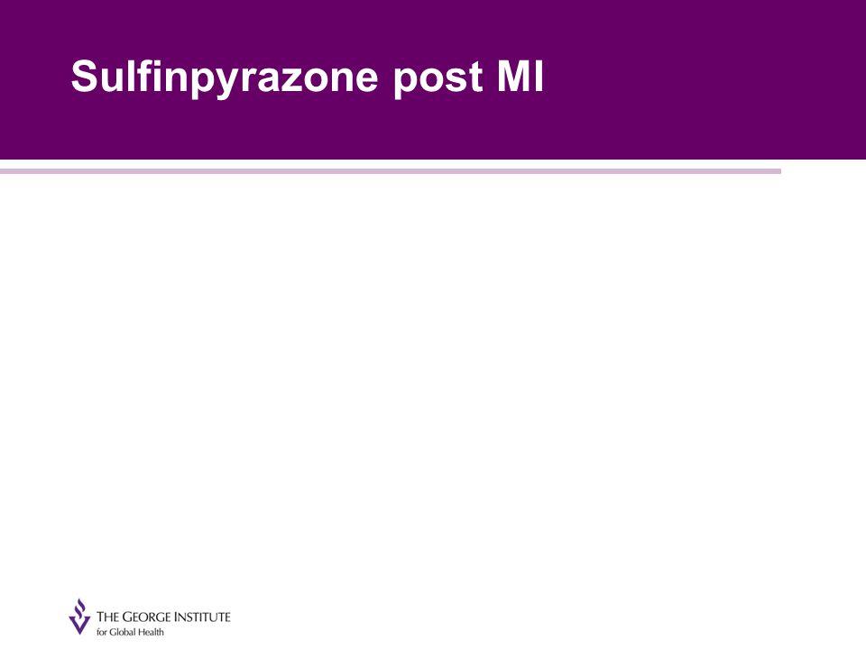 Sulfinpyrazone post MI