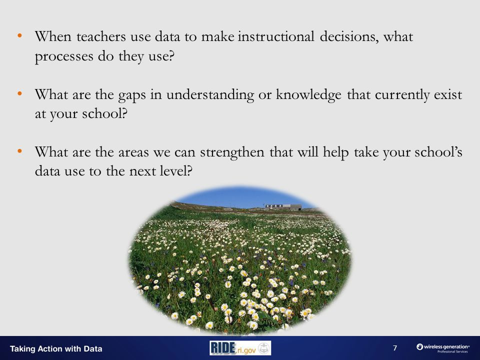 When teachers use data to make instructional decisions, what processes do they use.