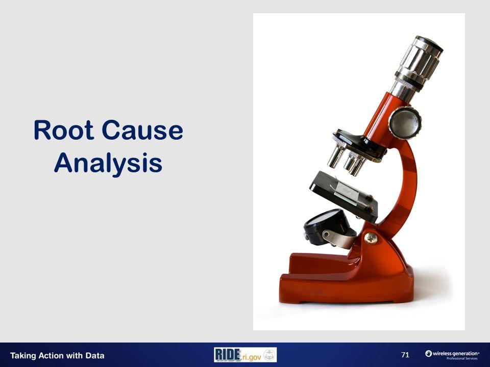 Root Cause Analysis 71