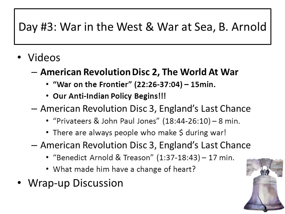 Day #3: War in the West & War at Sea, B.