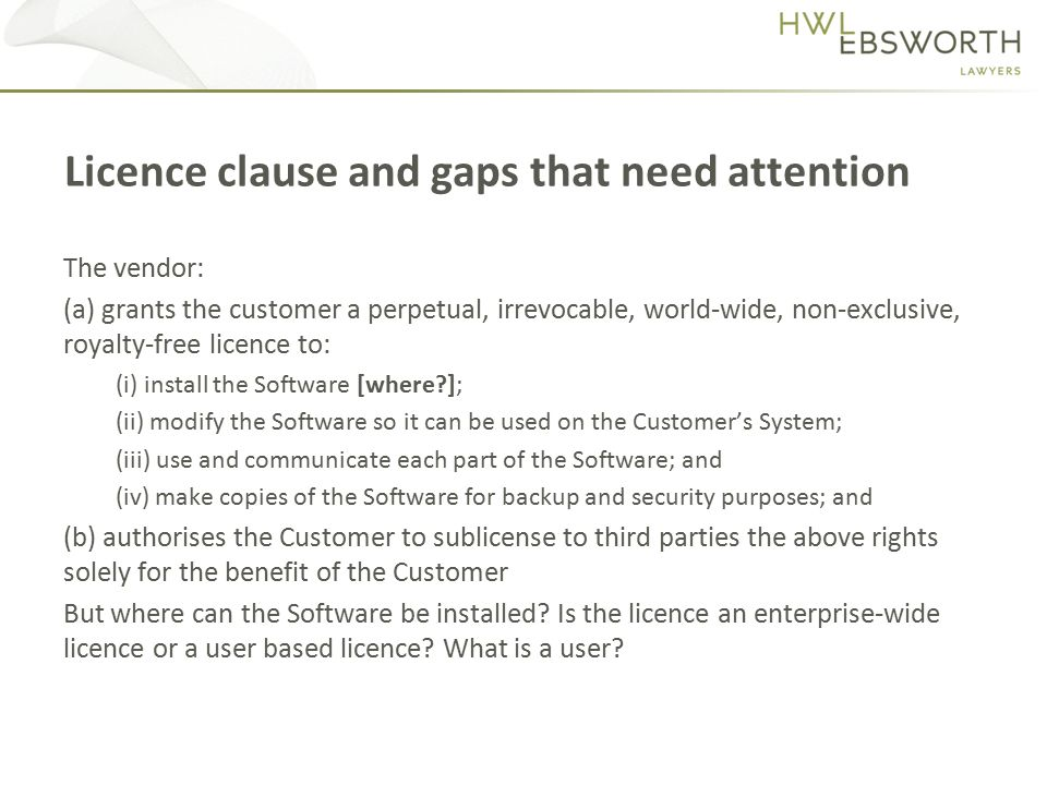 The Software should be defined to include Updates and New Releases adopted by the Customer.