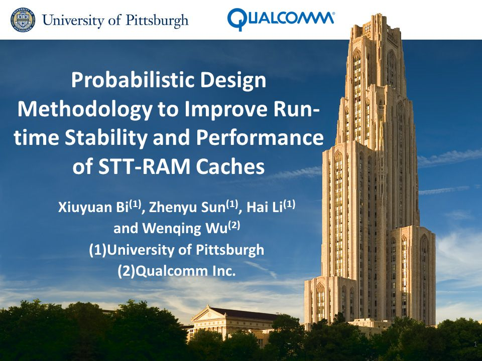 Introduction Spin-transfer torque random access memory (STT-RAM): Challenges: Write errors.