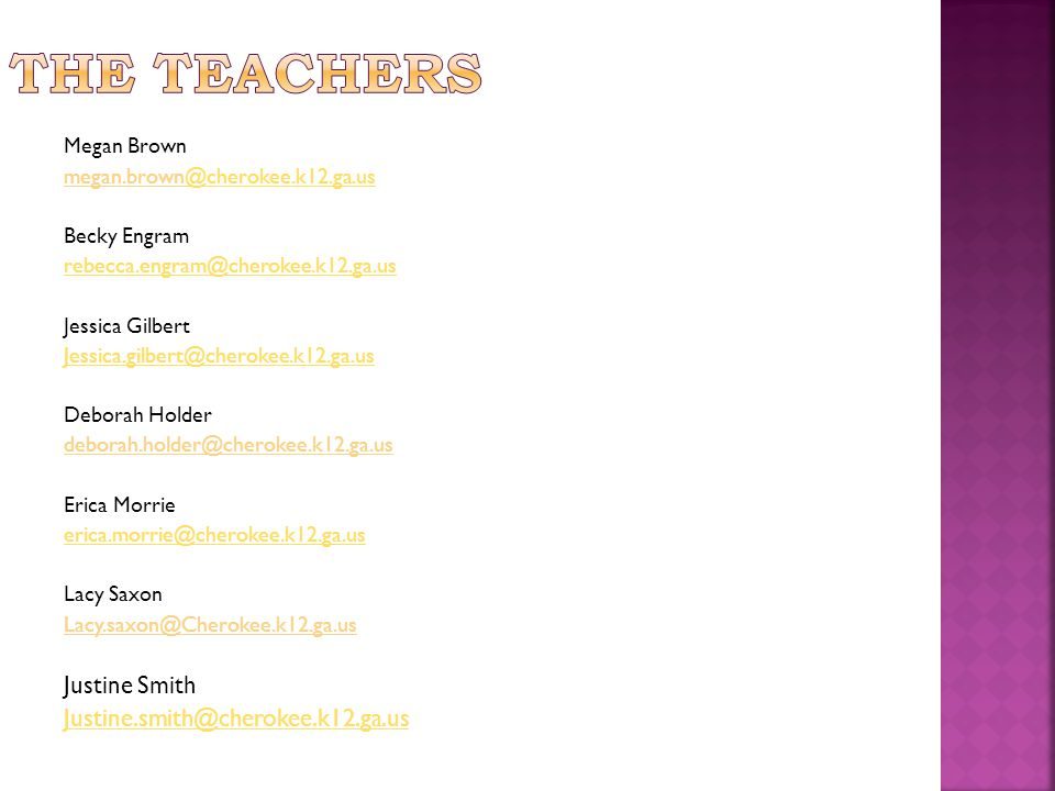 Each category is weighted the same for each class/subject.