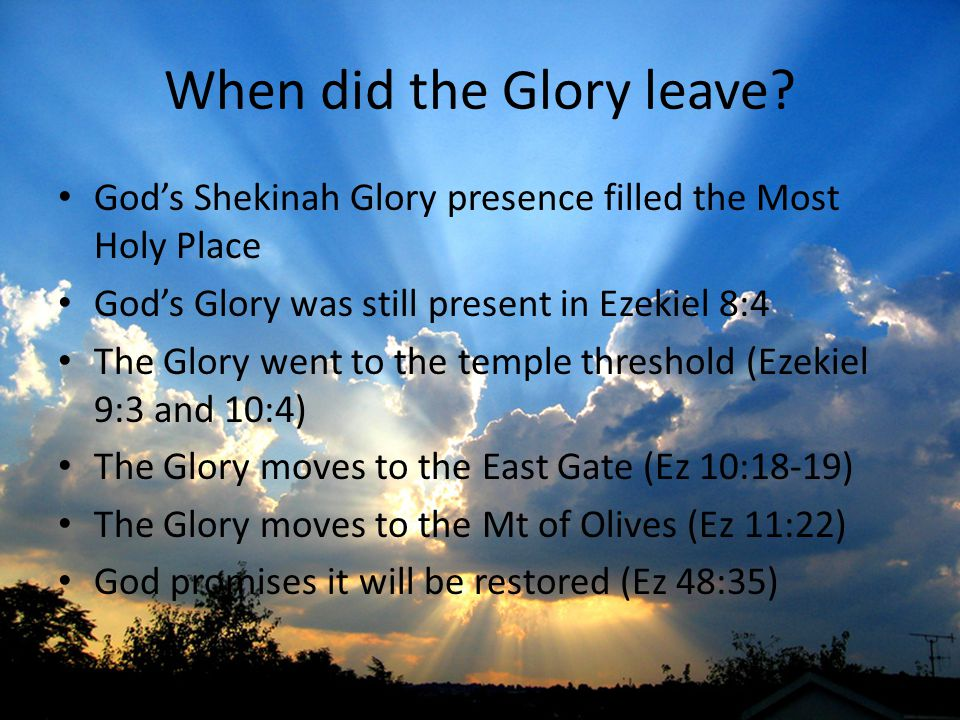 When did the Glory leave.