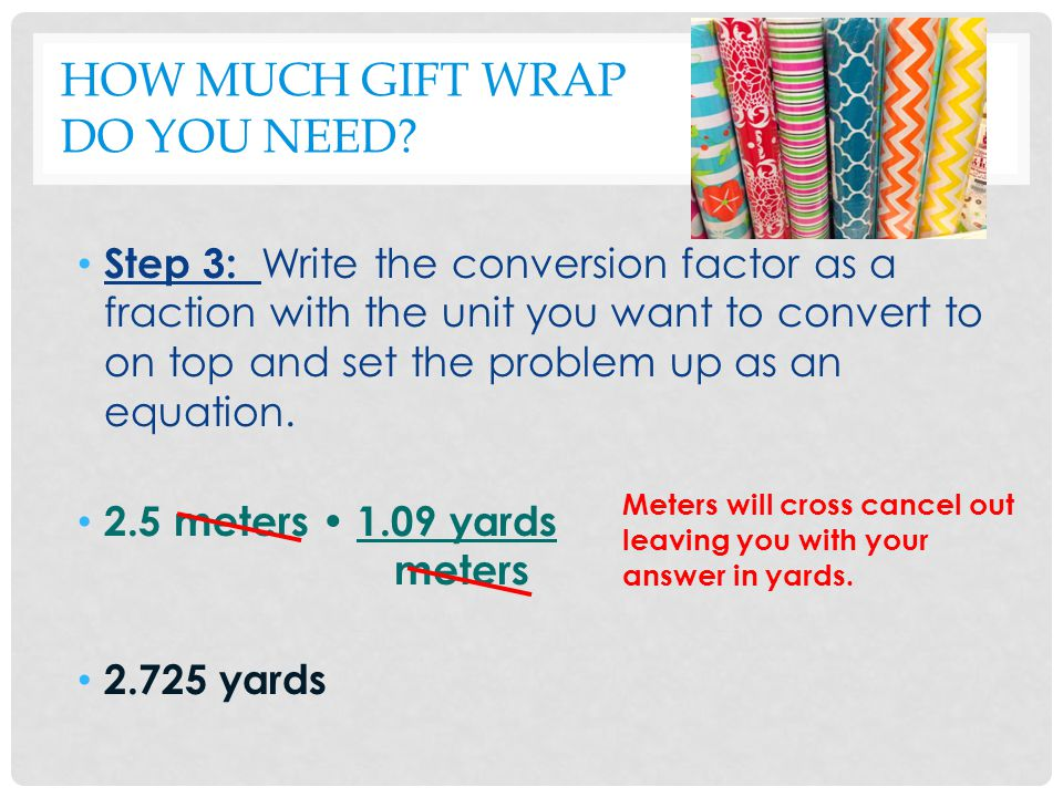 METRIC MAYHEM Convert 325 millimeters to meters.