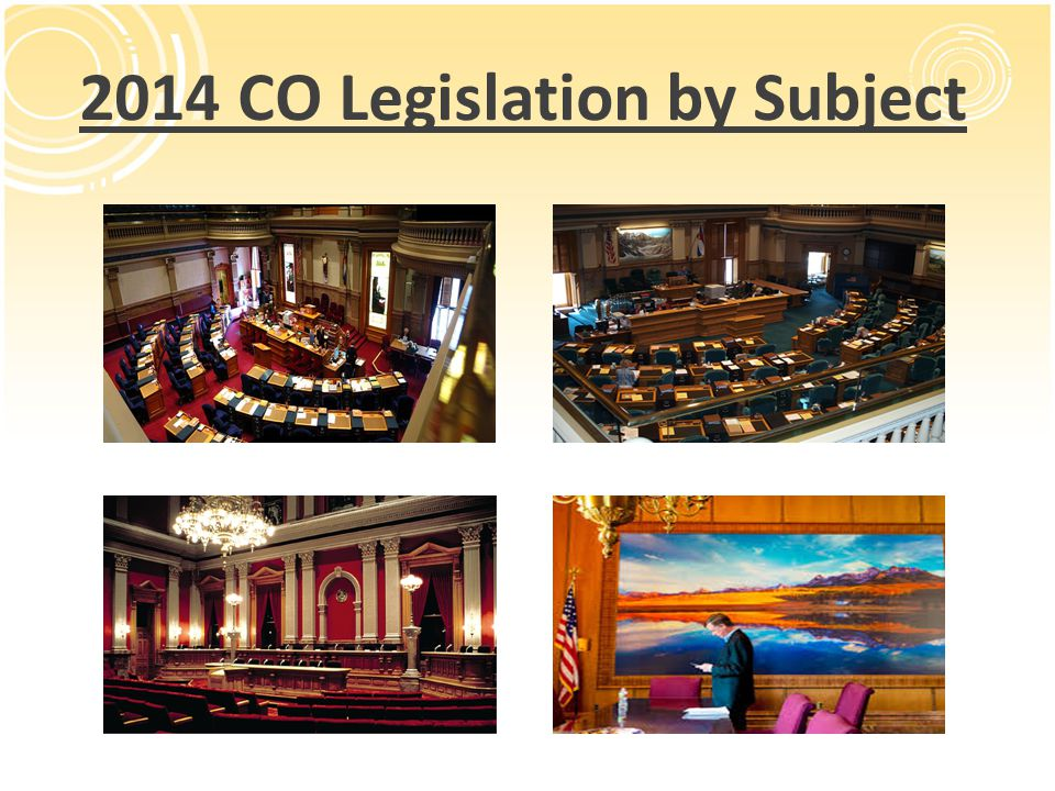 2014 CO Legislation by Subject