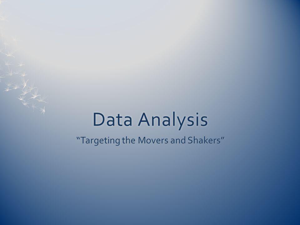 "Data AnalysisData Analysis ""Targeting the Movers and Shakers"""
