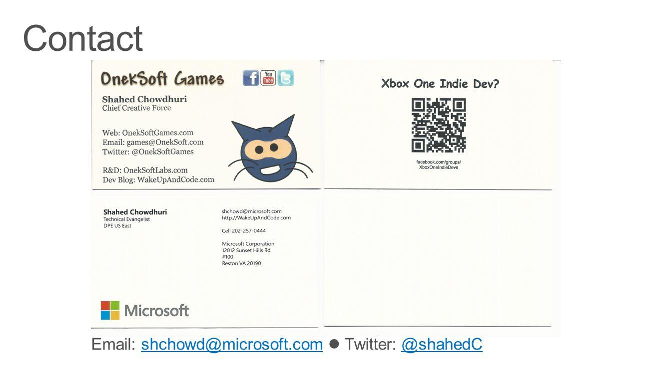 Email: shchowd@microsoft.com Twitter: @shahedCshchowd@microsoft.com@shahedC