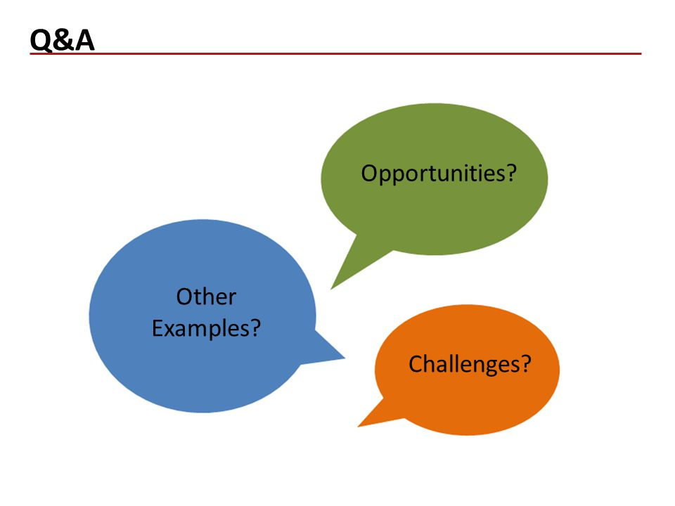Q&A 18 Challenges Other Examples Opportunities