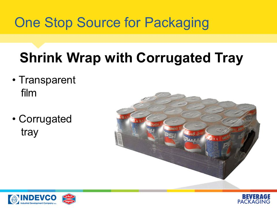 Transparent film Corrugated tray One Stop Source for Packaging Shrink Wrap with Corrugated Tray