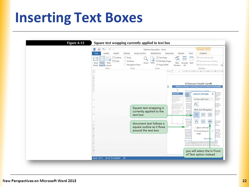 XP Inserting Text Boxes New Perspectives on Microsoft Word 201322