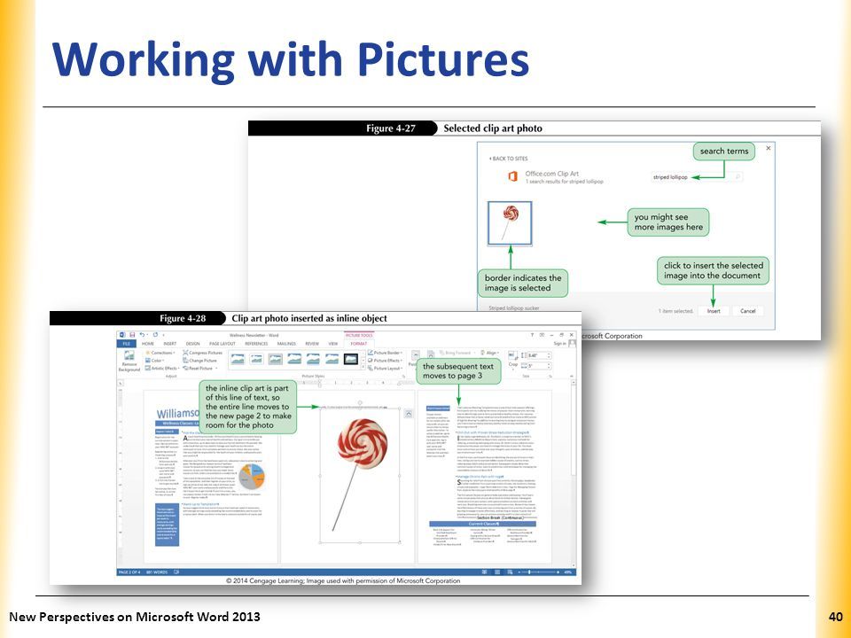 XP Working with Pictures New Perspectives on Microsoft Word 201340
