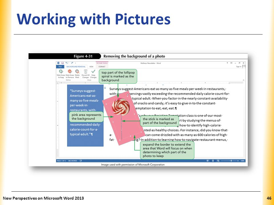 XP Working with Pictures New Perspectives on Microsoft Word 201346