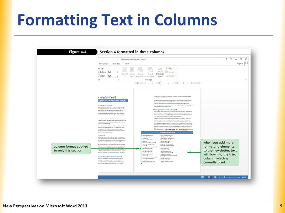XP Inserting Text Boxes Inserting a Preformatted Text Box – A sidebar is a text box designed to look good positioned to the side of the main document text New Perspectives on Microsoft Word 201320
