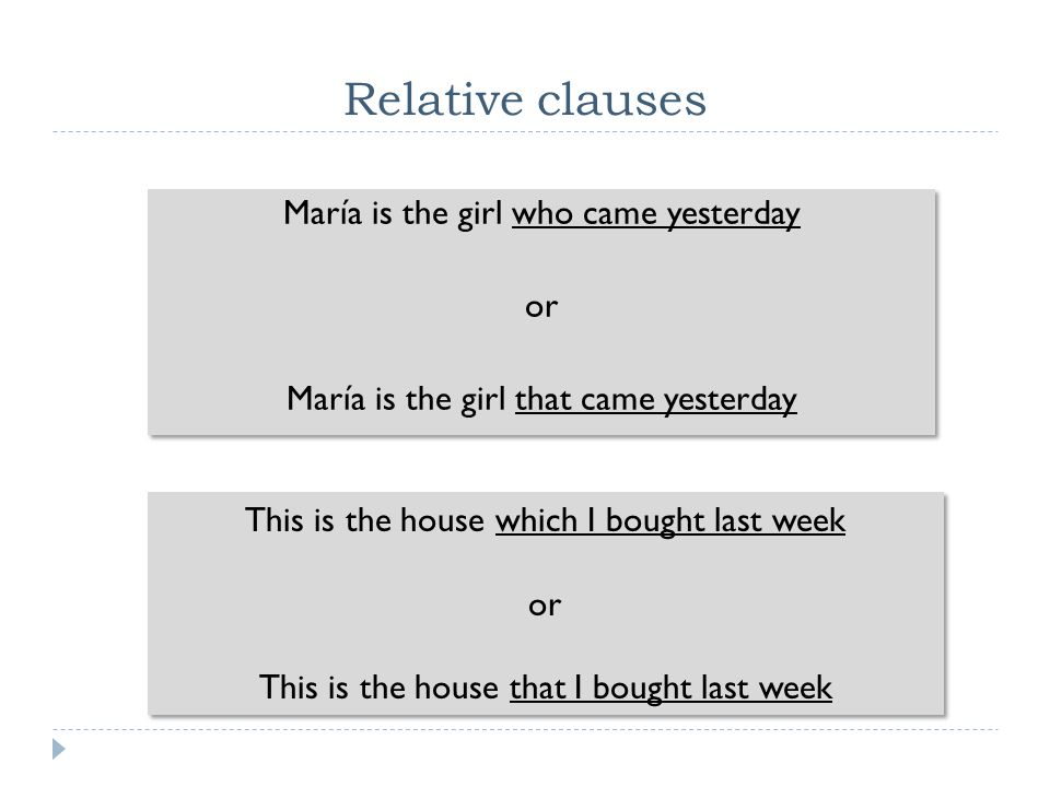 Relative clauses Two types of Relative clauses:  Restrictive: closely connected with the antecedent This is not something that would disturb me  Non-restrictive: Nouns which are already definite.