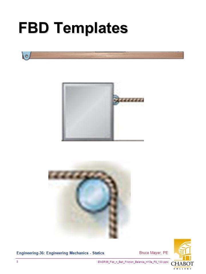 ENGR36_Flat_n_Belt_Friction_Balance_H13e_P8_133.pptx 4 Bruce Mayer, PE Engineering-36: Engineering Mechanics - Statics