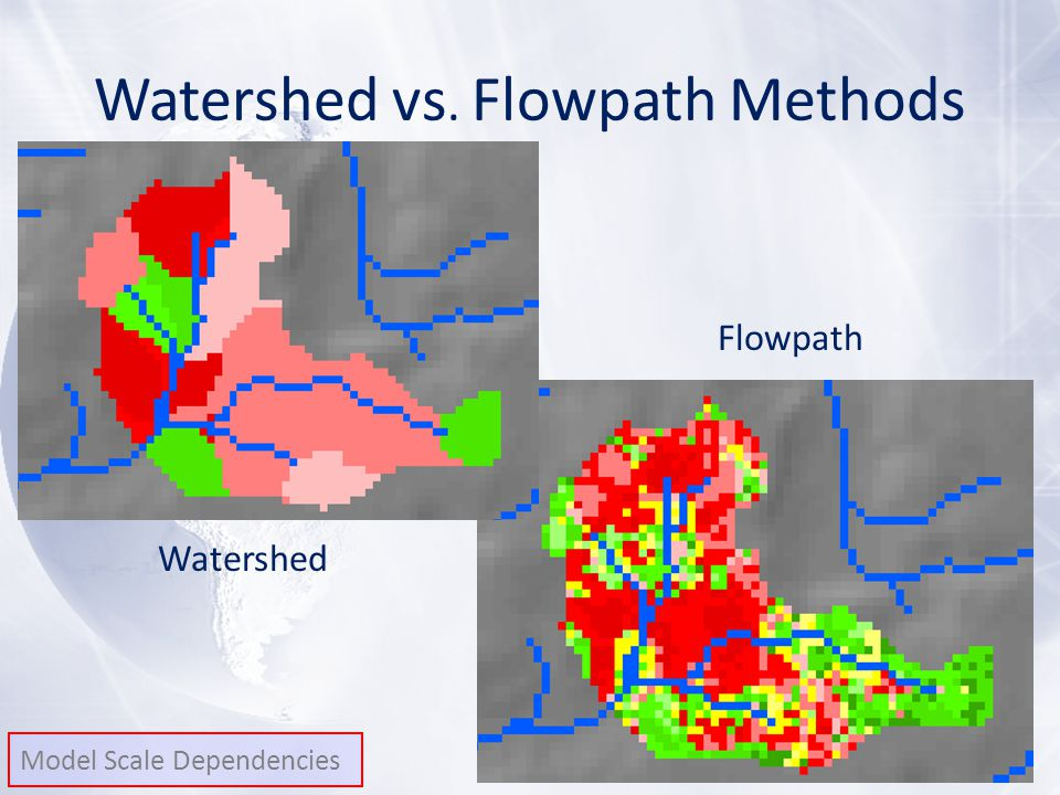 Watershed vs. Flowpath Methods Watershed Flowpath Model Scale Dependencies