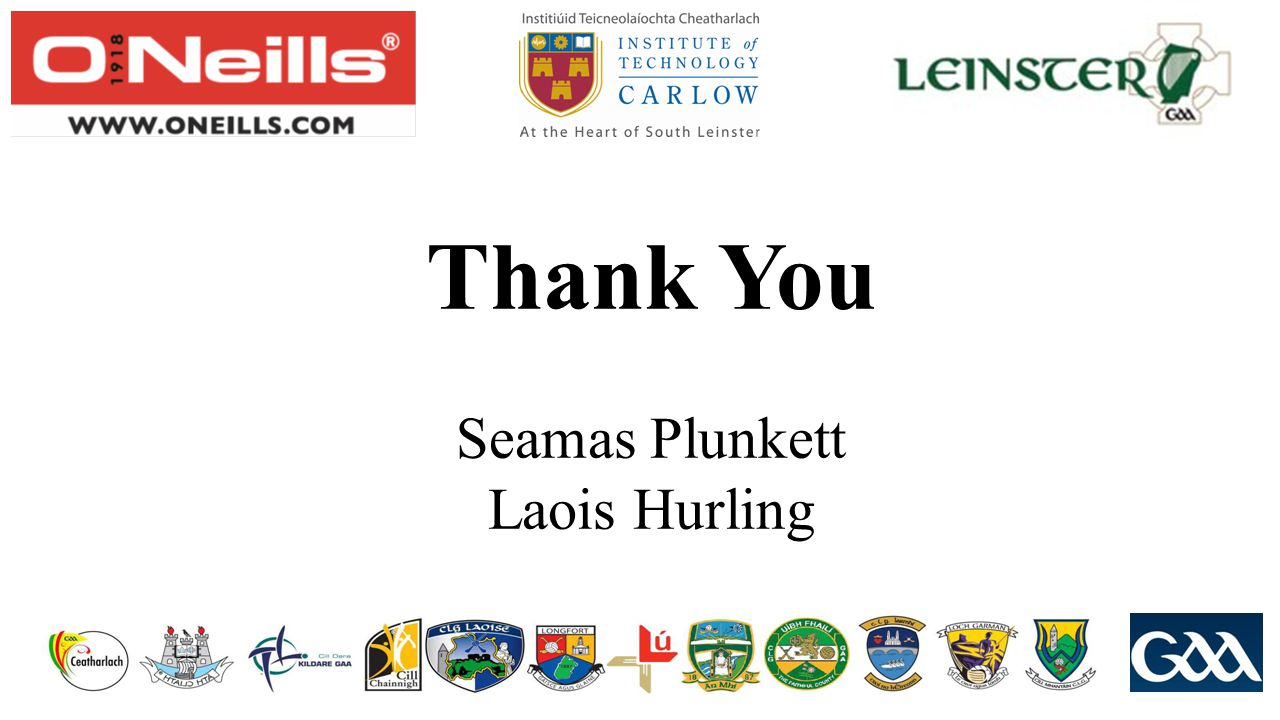 Thank You Seamas Plunkett Laois Hurling