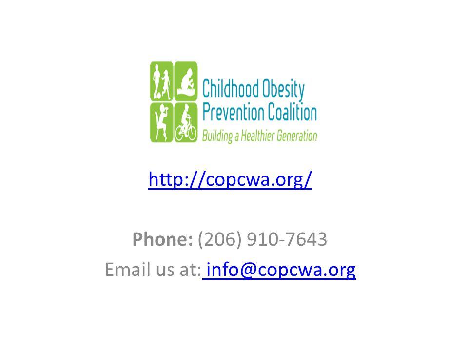 http://copcwa.org/ Phone: (206) 910-7643 Email us at: info@copcwa.org info@copcwa.org