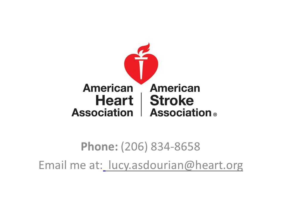 http://copcwa.org/ Phone: (206) 834-8658 Email me at: lucy.asdourian@heart.org