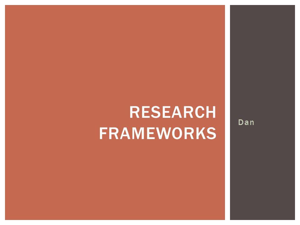 Dan RESEARCH FRAMEWORKS