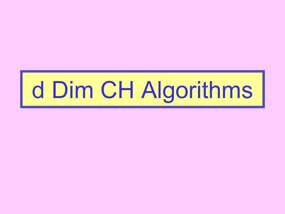 d Dim CH Algorithms