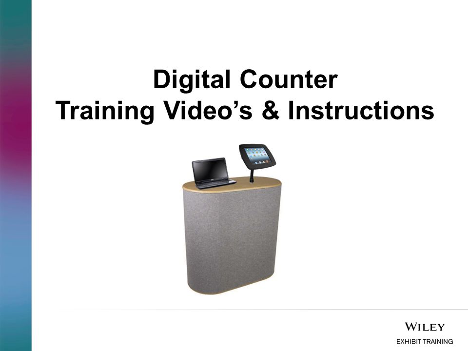 Fully Assembled Digital Counter: The Digital counter can be configured as follows: 1.1 x Bouncepad Flex with Laptop or Lenovo (if content interactive is being used) 2.2 x Bouncepad Flex Please ensure you book the appropriate tech equipment through your Exhibits contact.