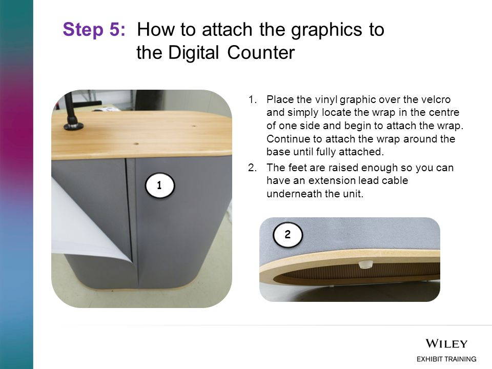 Step 5: How to attach the graphics to the Digital Counter 1.Place the vinyl graphic over the velcro and simply locate the wrap in the centre of one side and begin to attach the wrap.