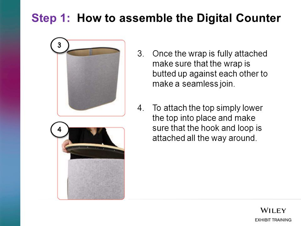 Step 2: How to attach the Bouncepad Flex to the Digital Counter 1.To attach the Bouncepad it is easier to have the top in place and open the back of the velcro with a small opening.
