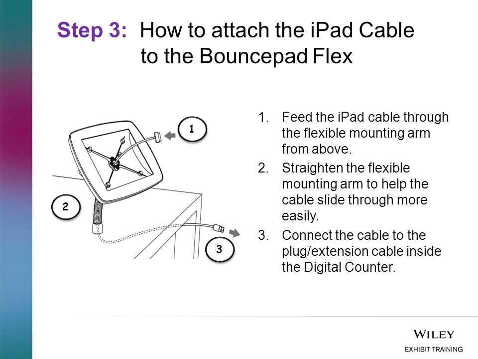 Step 4: How to lock the iPad into the Bouncepad Flex 1.Unlock and remove the face of secure case.